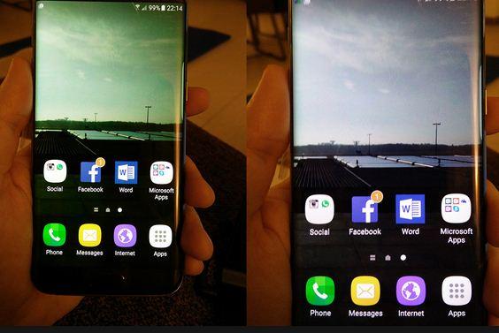 Màn hình điện thoại bị ố vàng
