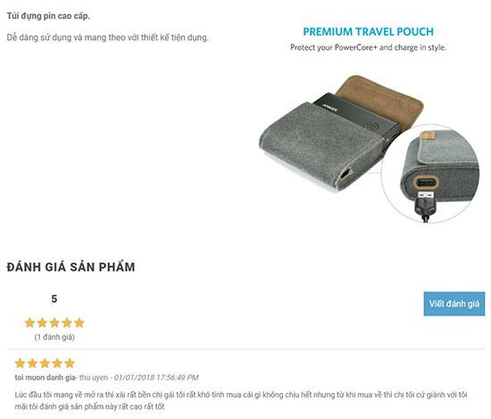 Đánh giá của khách hàng về sản phẩm bao da pin dự phòng Anker