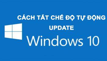 Tổng hợp 3 Thao tác đơn giản tắt tự động Update cập nhật Windows 10