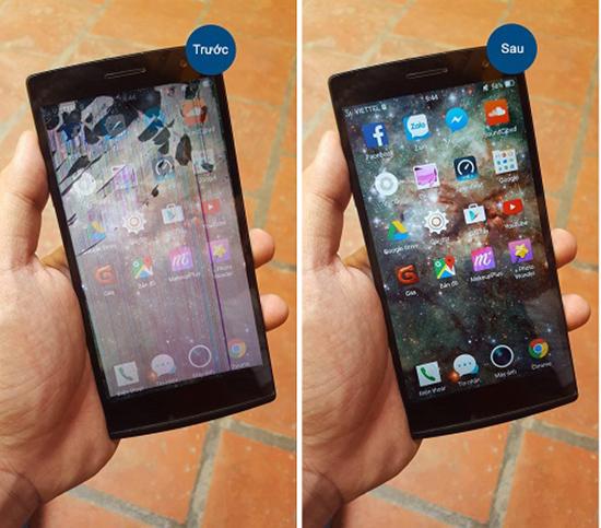 Khắc phục tình trạng Điện thoại bị vỡ màn hình trong