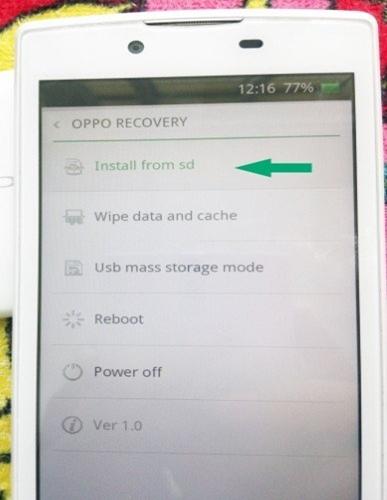 Điện thoại Oppo bị treo logo