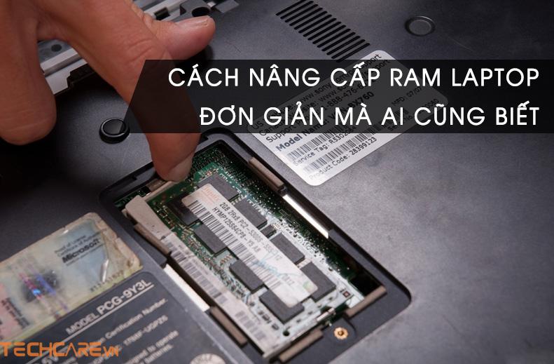 cách nâng cấp ram laptop