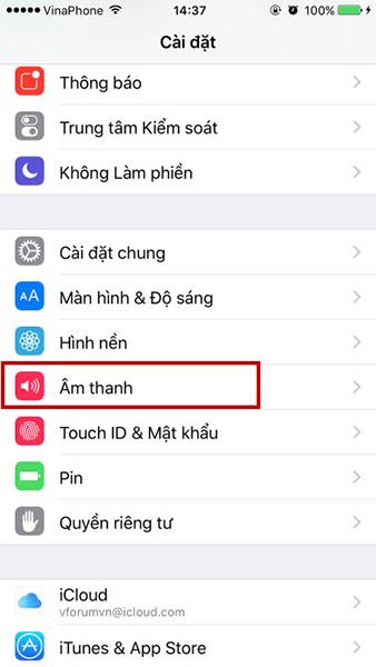 Iphone chỉ rung không đổ chuông có thể do cài đặt