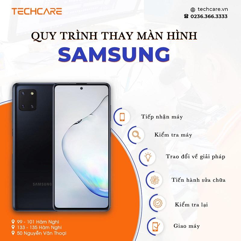 Techcare - Địa chỉ thay màn hình điện thoại Samsung uy tín Đà Nẵng