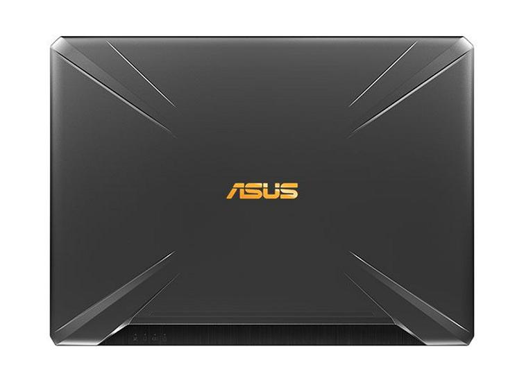 Phần lưng được thiết kế với đường vân lớn bao quanh logo ASUS đầy tinh tế