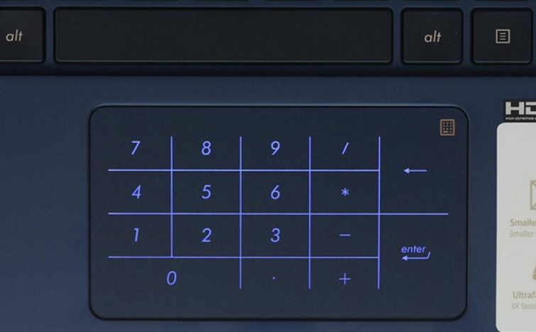 Touchpad được thiết kế với diện tích khá rộng