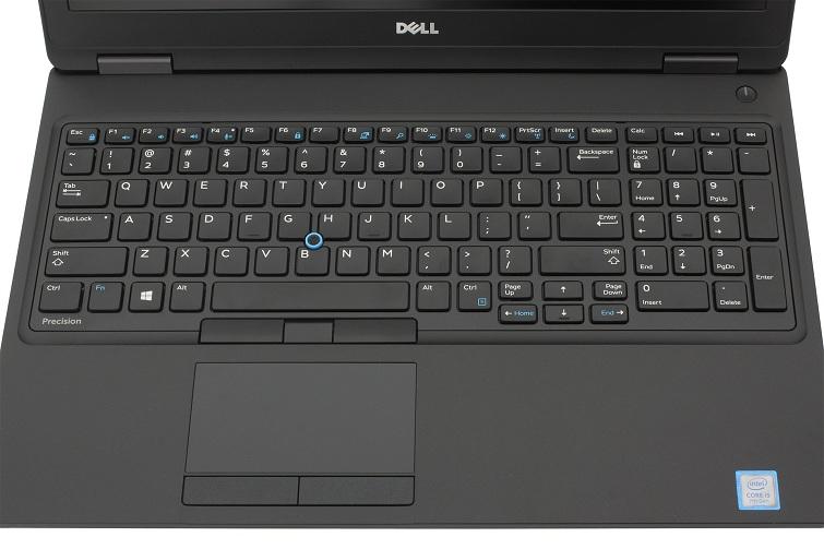 Bàn phím của Dell Precision 3520 không được dễ chịu khi gõ cho lắm
