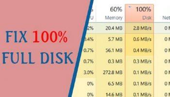 Cách khắc phục lỗi full disk 100 win 10