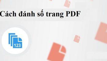 Đánh số trang PDF