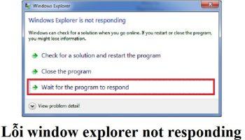 Lỗi window explorer not responding