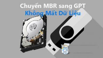 Chuyển MBR sang GPT không mất dữ liệu
