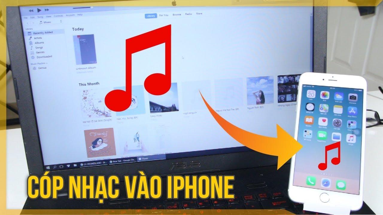 Cách chép nhạc vào iphone bằng itunes mới nhất iPhone 6/7/8 / X hoặc iPhone XR / XS / XS Max qua AirMore
