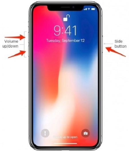 Cách buộc khởi động lại trên iPhone X trở lên (với các Nút)