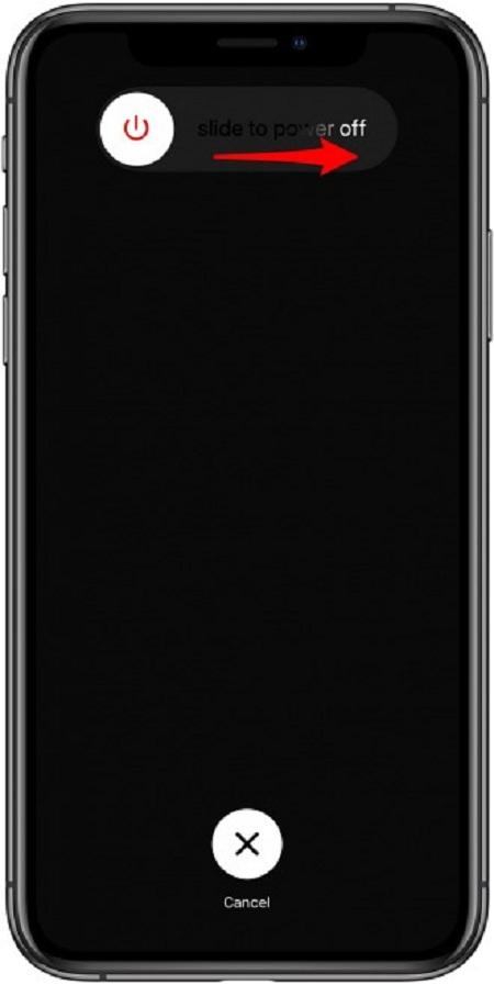 Cách tắt nguồn iPhone X khi bị đơ trong ứng dụng Cài đặt