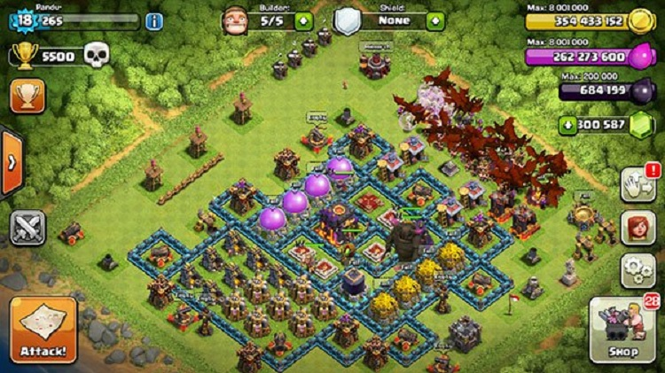 Game điện thoại info clash of clans