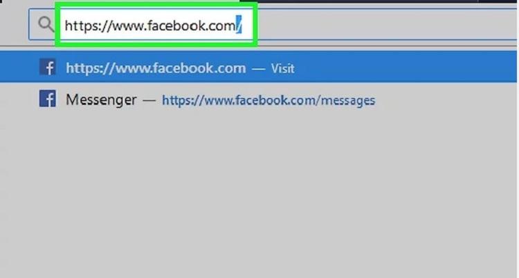 Mở Facebook.