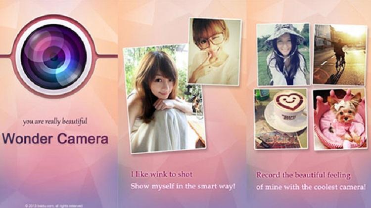 Wonder Camera app xoá mụn trên iphone android