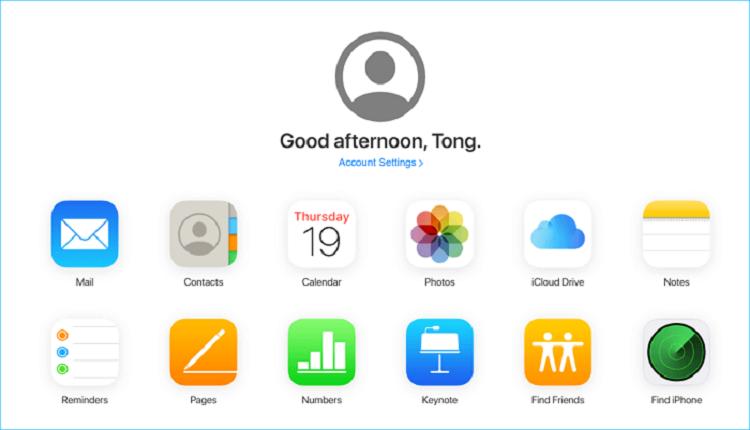 Phương pháp 3. Nhập tệp từ iPhone sang PC bằng iCloud