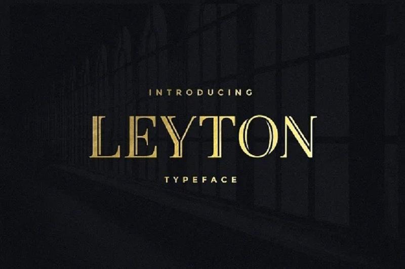 4. Kiểu chữ sang trọng Leyton