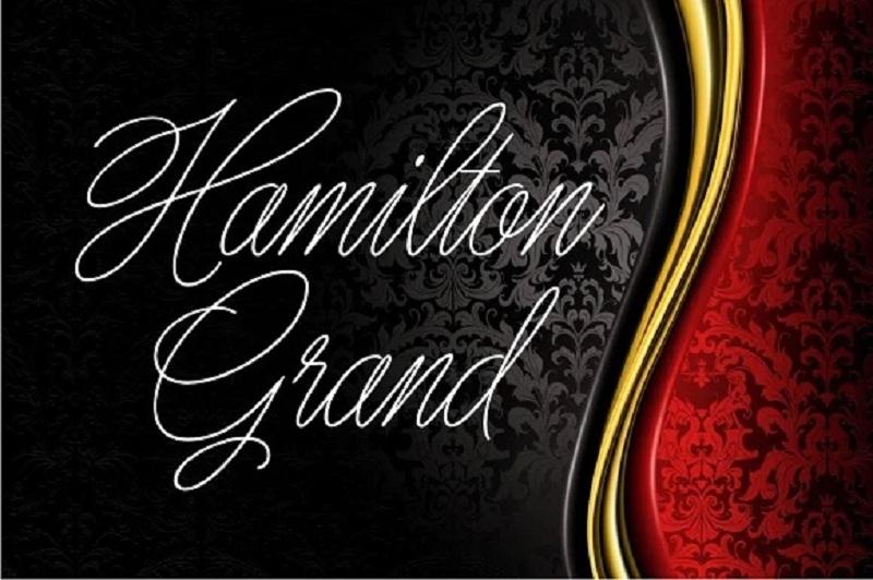 6. Hamilton Grandfont chữ sang trọng