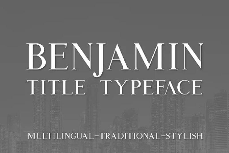 Kiểu chữ tiêu đề của Benjamin