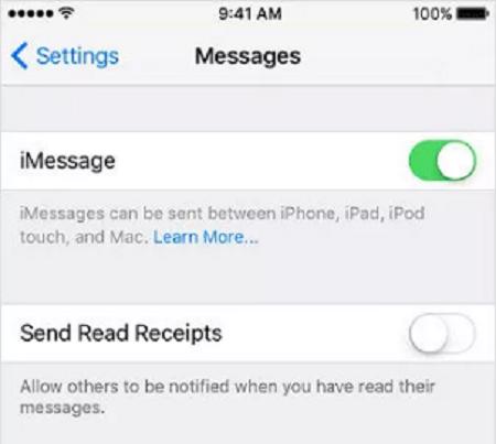 Giải pháp 4: Đảm bảo rằng iMessage được bật sửaiPhone không gửi được tin nhắn