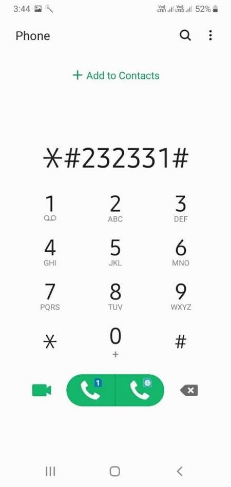 Thủ thuật 1 -Test màn hình Samsung tính nguyên bản của thiết bị bằng mã bí mật của Samsung