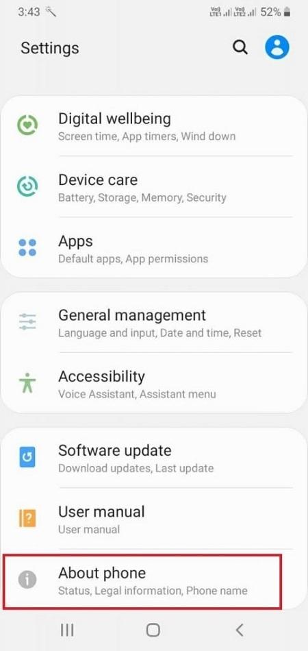 Test màn hình Samsung Kiểm tra số IMEI của Samsung