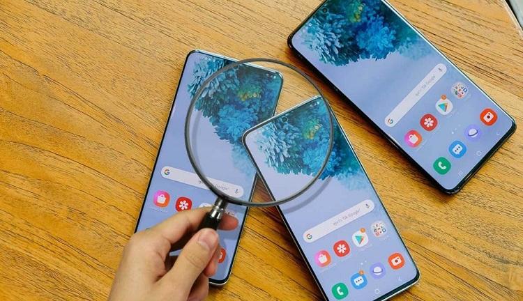cách test màn hình Samsung chính hãng
