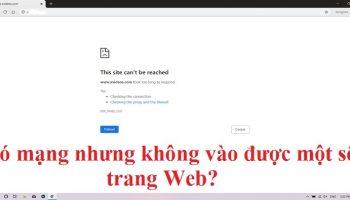 Tại sao có mạng nhưng không vào được một số trang Web?