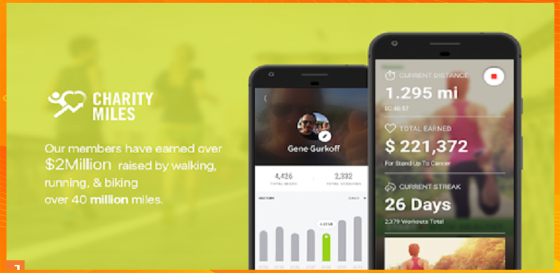 Charity Miles App chạy bộ kiếm tiền