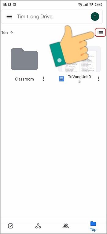 Cách tải ảnh từ google drive về điện thoại