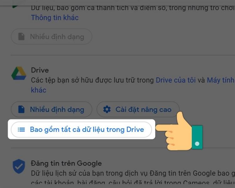 Cách tải ảnh từ google drive về điện thoại bằng Takeout