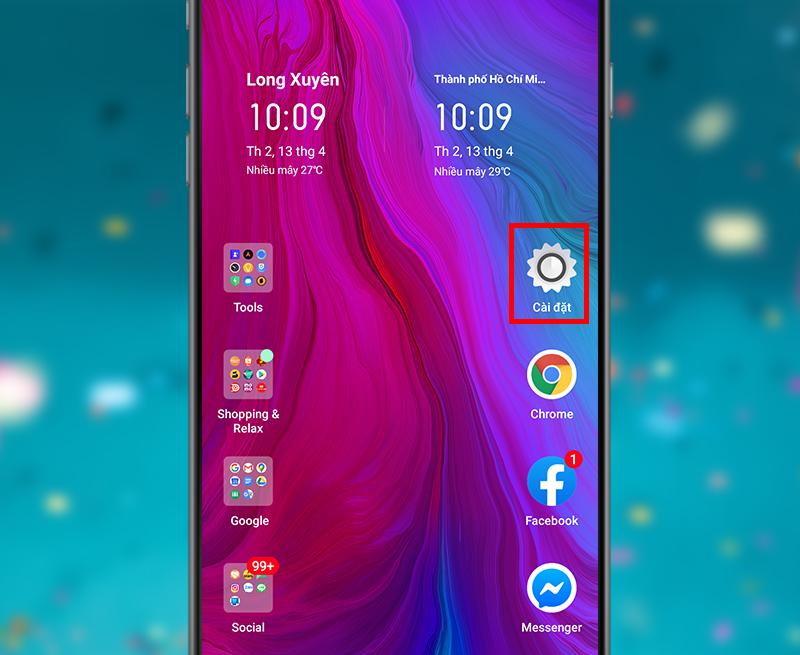 Cách chỉnh sáng dành cho điện thoại có sẵn cài đặt