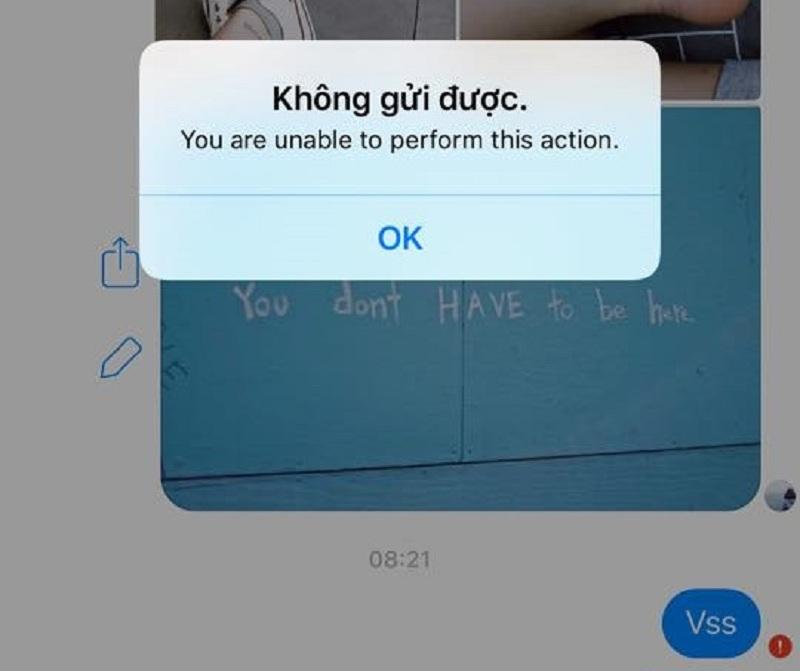 Các dấu hiệu Messenger bị lỗi
