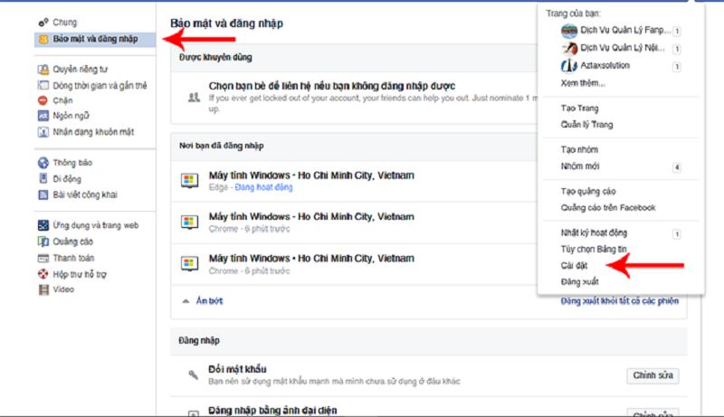 Xem lịch sử đăng nhập facebook trên điện thoại