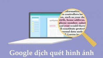 Google dịch quét hình ảnh trên máy tính