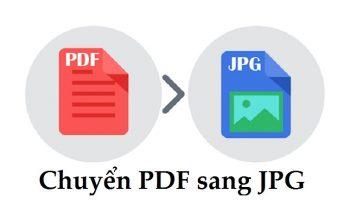 Chuyển PDF sang JPG