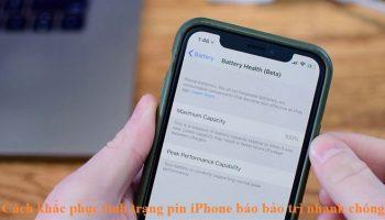 Cách khắc phục tình trạng pin iPhone báo bảo trì nhanh chóng